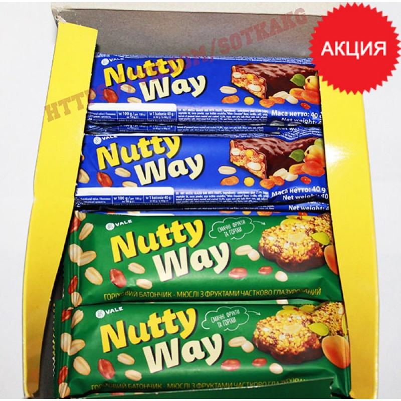 Энергетический батончик: Monsters Nutty Way    40г